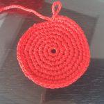 初心者でも簡単のアクリルタワシ編み方かぎ針で丸や花その1