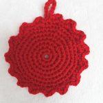 初心者でも簡単アクリルタワシ編み方かぎ針で丸や花その2