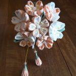 つまみ細工桜の髪飾り花びらのコツとつぼみの作り方紹介