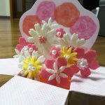 母の日カードを子供が手作り!飛び出す花束プレゼントおしゃれで簡単