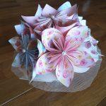 折り紙で花束ブーケ作り方!簡単子供からのプレゼントに最適